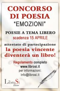 """Poesie in """"Emozioni"""", la casa editrice LibroSì apre il 1° concorso."""